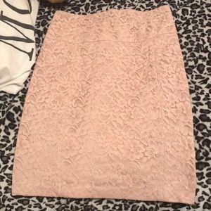 Express cream lace skirt